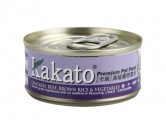 Kakato 雞 + 牛 + 糙米 + 菜 170g