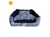 Doggie Goodie Zebra Print Bed - Size M