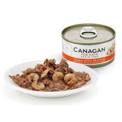 Canagan 吞拿魚伴蝦貓罐頭(深橙色)75g