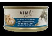 AIME 貓罐-鮮吞拿魚(無穀物啖啖肉補水系列) 85g (深藍-TT85)