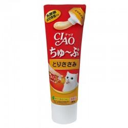 CIAO 支裝貓小食-日本乳酸菌肉泥膏小食 80g (雞肉醬)(CS-153) x4