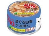 CIAO - 吞拿魚白身+木魚片 貓用主食罐 85g (A-85)