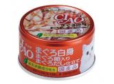 CIAO - 吞拿魚白身+吞拿魚乾 貓用主食罐 85g (A-87)