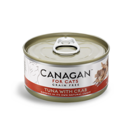 Canagan 吞拿魚伴蟹肉 (紅色) 無穀物貓罐頭  75g x 24 (可混款)