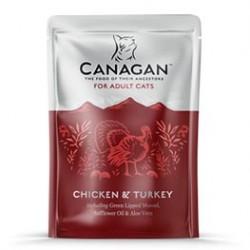 Canagan 雞肉火雞主食肉醬濕包(深紅色) 85g-成貓用