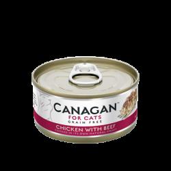 Canagan 雞肉牛肉 (深桃紅)   無穀物貓罐頭 75g