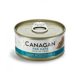 Canagan 吞拿魚伴青口貓罐頭(深綠色) 75g