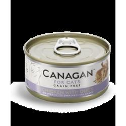 Canagan 雞肉+鴨肉 (灰藍色) 無穀物貓罐頭  75g