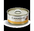 Canagan 雞肉+吞拿魚 (啡黃色) 無穀物貓罐頭 75g x 24 (可混款)