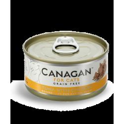 Canagan  雞肉伴吞拿魚 (啡黃色) 無穀物貓罐頭 75g
