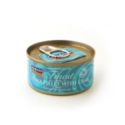 Fish4Cats 吞拿魚塊蟹肉貓罐頭 70g (粉藍色)