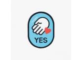 munglab (韓國)可水洗拖帶用魔術雙面貼-喜歡和人接觸 (YES)