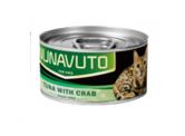 Nunavuto 肉絲貓罐頭 - 吞拿魚片+蟹肉 80g (綠)