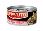 Nunavuto 肉絲貓罐頭 - 吞拿魚片+蝦肉 80g (紅)