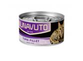 Nunavuto 肉絲貓罐頭 - 吞拿魚片 80g (紫)