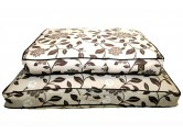 One For Pets Outdoor Pillow Bed 戶外室內兼用型 -  Brown Floral (S)