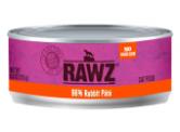 RAWZ 無穀物 - 96% 兔肉 貓用主食罐 (肉醬) 156g