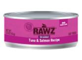RAWZ 無穀物 - 吞拿魚+三文魚 貓用主食罐 (肉絲) 156g