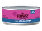 RAWZ 無穀物 - 吞拿魚+雞胸 貓用主食罐 (肉絲) 156g