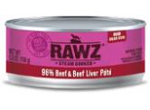 RAWZ 無穀物 - 96% 牛肉+牛肝 貓用主食罐 (肉醬) 156g