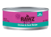 RAWZ 無穀物 - 雞胸+鴨肉 貓用主食罐 (肉絲) 156g