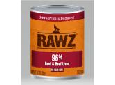 RAWZ 無穀物96% 牛肉+牛肝 主食狗罐頭 354g