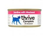 Thrive 整全膳食100% 沙甸魚+鯖魚貓罐頭 75g (桃紅)