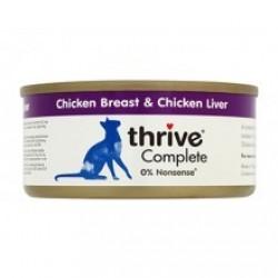 Thrive 整全膳食100% 雞肉+雞肝 貓罐頭 75g
