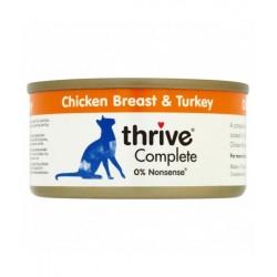 Thrive 整全膳食100% 雞肉+火雞貓罐頭 75g