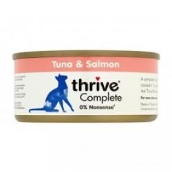Thrive 整全膳食100% 吞拿魚+三文魚貓罐頭 75g