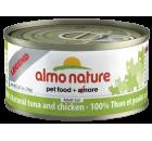 Almo Nature 雞肉吞拿魚 70g x 24罐