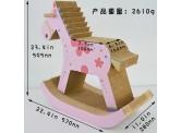木馬型瓦通紙貓抓板 - 粉紅色
