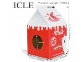 牛奶盒型 (紅色) 瓦通紙貓抓板