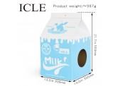 牛奶盒型 (藍色) 瓦通紙貓抓板