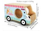 雪糕車(藍色)-瓦通紙貓抓板