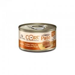 Wellness CORE 無穀物貓罐頭 - 鮮雞肉+火雞肉+雞肝 156g (新優惠)
