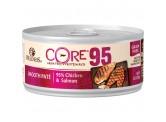 Wellness Core 95%無穀物 雞肉三文魚 貓罐頭 156g x 24 (可混款)