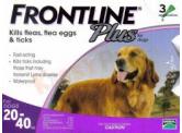 Frontline Plus 殺蚤除牛蜱藥水 (適合8週齡以上及20-40kg狗隻) 1盒3支