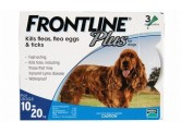 Frontline Plus 殺蚤除牛蜱藥水 (適合8週齡以上及10-20kg狗隻) 1盒3支