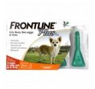 Frontline Plus 殺蚤除牛蜱藥水 (適合8週齡以上及10kg以下狗隻) 1盒3支